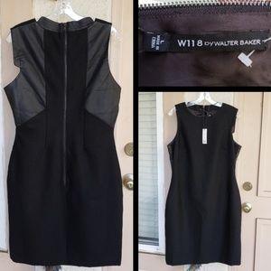 $178 women W118 Margaret Dress Sheath Wool Blend L